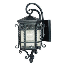Maxim Lighting - Wrought Iron 1 Light Outdoor Wall SconcesScottsdale Collection - Lighting your life since 1970, Maxim Lighting is committed to offering you outstanding quality and satisfaction.