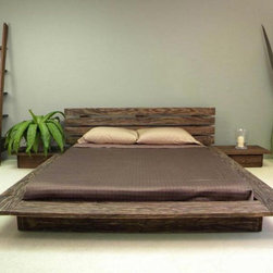 Delta Low Profile Platform Bed - This is a very Japanese-inspired bed on a platform.