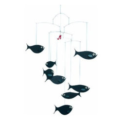 Flensted Mobiles Shoal Of Fish Mobile - Beautiful fish floating in the air!