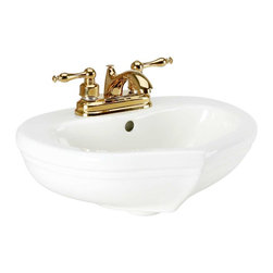 Renovators Supply - Children's Bone Sweet Heart Child-size Sink Only - Children's Sinks: A mini pedestal sink sized for a child. Our Sweet Heart sink creates a safe, functional environment for your kids. Classic heart-shaped sink, matches our Sweet Heart Loo, takes 4 in. centerset faucet (not included).  Measures 17 in. width x 14 in. projection.