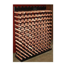 Vinotemp - Cellar Trellis 42.5 in. Wine Rack - Freestanding unit. Made from wood and powder coated metal. Fits 120 bottles. 39 in. W x 10 in. D x 42.5 in. H (120 lbs.). Cellar trellis collection. Custom made: 8 to 10 weeks lead time. Display ten bottles on top row. 3.75 in. universal racking fits most bottle sizes. Warranty. Assembly InstructionsA great use for any space, this unit can be used as a module in a larger rack system.
