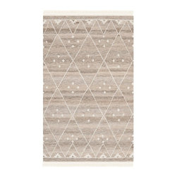 Safavieh - Chianna Flatweave Rug, Natural / Ivory 3' X 5' - Construction Method: Hand Woven Flat Weave. Country of Origin: India. Care Instructions: Vacuum Regularly To Prevent Dust And Crumbs From Settling Into The Roots Of The Fibers. Avoid Direct And Continuous Exposure To Sunlight. Use Rug Protectors Under The Legs Of Heavy Furniture To Avoid Flattening Piles. Do Not Pull Loose Ends; Clip Them With Scissors To Remove. Turn Carpet Occasionally To Equalize Wear. Remove Spills Immediately. A stylized compilation of ages-old nomadic tribal motifs, Natural Kilim rugs are hand-woven by artisans of hand-carded wool for rich, lustrous texture. Rustic and casual, natural kilims are perfect for traditional, transitional and contemporary settings.