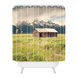 DENY Designs - Catherine McDonald Summer In The Tetons Shower Curtain - Who says bathrooms can't be fun? To get the most bang for your buck, start with an artistic, inventive shower curtain. We've got endless options that will really make your bathroom pop. Heck, your guests may start spending a little extra time in there because of it!
