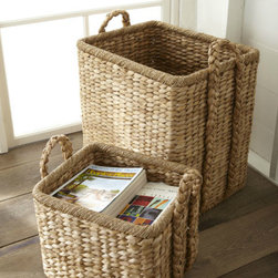 Handwoven Seagrass Baskets - You'll need a big ol' seagrass basket by the door or in your entry to corral all of those outdoor summertime toys and accessories. When the season changes, just shift it over to the living room to stow throw blankets, pillows or firewood.