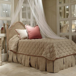 Twin Guesthouse Woven Bed Headboard, Fine Furniture Design -