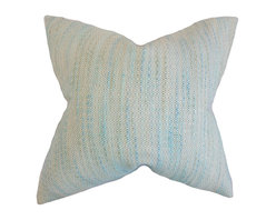 """The Pillow Collection - Lakota Stripes Pillow, Baby Blue 18"""" x 18"""" - Give your room an updated look with this chic accent pillow."""