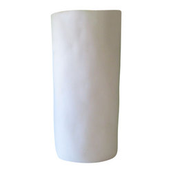 """Tina Frey Designs - Albert Vase, 5.5"""" Dia x 12"""", White - Designed by Tina Frey, part of the Tina Frey Designs Tina Frey Home Collection. Hand-finished. Water safe. Hand wash."""
