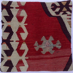 Turkish import - Rust kilim antique pillow cover - Turkish kilim pillow cover.  Please note, pillow insert not included.