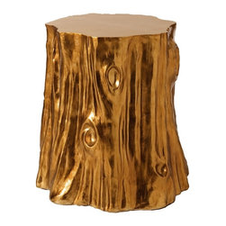Arteriors - Subin Accent Table - If you've got a wild imagination, indulge it with this piece. The cast resin creation, finished in gold-leaf foil, makes a fantastical cocktail table and works just as well as a low stool. Consider a cluster for your favorite eclectic setting.