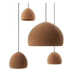Float Pendant - The Float cork pendant by designer Benjamin Hubert is a great lighting solution for the kitchen or dining room.