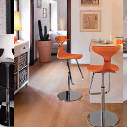 Modern Italian adjustable bar stools RIVET by GREEN - Modern Italian adjustable bar stools RIVET by GREEN, presented by Euroluxe Interiors.