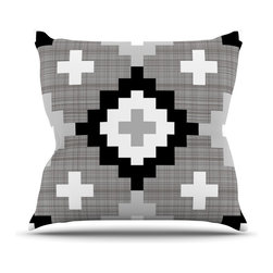 "Kess InHouse - Pellerina Design ""Linen Moroccan"" Grey Geometric Throw Pillow (26"" x 26"") - Rest among the art you love. Transform your hang out room into a hip gallery, that's also comfortable. With this pillow you can create an environment that reflects your unique style. It's amazing what a throw pillow can do to complete a room. (Kess InHouse is not responsible for pillow fighting that may occur as the result of creative stimulation)."