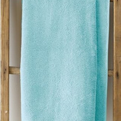 Garnet Hill - Garnet Hill Signature 600-Gram Cotton Bath Towels - Face Cloth, Pair - Aqua - These thirsty bath towels are made of the finest long-staple Egyptian cotton. The extra-thick 600-gram cotton terry has long loops that are specially finished to provide maximum absorbency. Double-stitched hems for durability. Generously sized, these towels are made in Turkey exclusively for Garnet Hill. Bath mat is 800-gram terry. Monogramming is available.