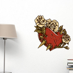 Heart Vinyl Wall Decal HeartUScolor022; 72 in. - Vinyl Wall Decals are an awesome way to bring a room to life!