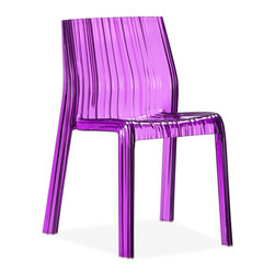 Zuo Modern - Zuo Modern Ruffle Modern Dining Chair (Pack of 4) X-263601 - The Ruffle dining chair combines the elegance and modernity of polycarbonate body, a sensuous shape that is stackable, and has UV protection for outdoor use.