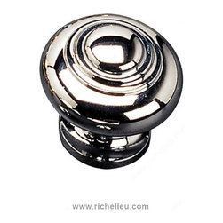 """Contemporary Solid Brass Knob - 1023 - 10230140 - Finish Chrome Diameter 1.188"""" Material Solid Brass Packaging format Per unit"""