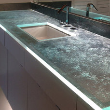 Modern Bathroom by Meltdown Glass Art & Design, LLC