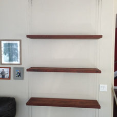 Transitional Wall Shelves by San Diego Cable Railings