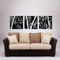 ColorfulHall Co., LTD - Removable Wall Decals Large Tree Wall Decals Bamboo  (3Pcs) - Removable Wall Decals Large Tree Wall Decals Bamboo  (3pcs)