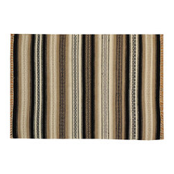 1800-Get-A-Rug - Flat Weave 100% Wool Striped Hand Woven Durie Kilim Reversible Rug Sh15700 - The Flat Weave hand woven rug is a type of area rug created by weaving wool onto a foundation of cotton warps on a loom. The Flat Weave rug offers the same beauty and durability as the classical thick-pile Oriental rugs, but without the telltale thick pile often spotted in other rugs. This gives the Flat weave a thin and flat appearance which resembles the Needlepoint, making them wonderfully ideal choices as accent rugs, wall hangings, or to drape over furniture and staircases.