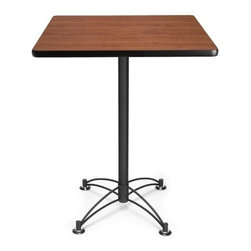 OFM - OFM 30 Square Cafe Height Table - Black Base, Cherry - This 30 square table looks elegant in both lunch and meeting rooms and looks great with the model 404C and 408C cafe height chairs. The banding makes the edges smooth and gives it a finished appearance. The honeycomb core makes the table both lightweight and sturdy.