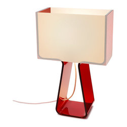 Tube Top Lamp, Red - A pop of color that brightens up any space.
