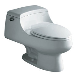 "Atlas International Inc - Toilet - Ariel Royal Contemporary European ""Celeste"" - Modern Eco-Friendly One Piece White toilet. Ariel cutting-edge designed one-piece toilets with powerful flushing system. It's a beautiful, modern toilet for your contemporary bathroom remodel."