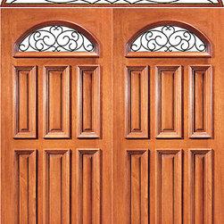 "Prehung Mahogany Camber Lite Front Double Door Elliptical Transom - SKU#XR-131-2EBrandAAWDoor TypeExteriorManufacturer CollectionExpo Iron Exterior DoorsDoor ModelDoor MaterialWoodWoodgrainMahoganyVeneerPrice2608Door Size Options2(36"") x 80"" (6'-0"" x 6'-8"")  $0Core TypeSolidDoor StyleDoor Lite StyleCamber LiteDoor Panel StyleRaised Moulding , Floating Panel , 6 PanelHome Style MatchingLog , Prairie , Ranch , MediterraneanDoor ConstructionEngineered Stiles and RailsPrehanging OptionsPrehungPrehung ConfigurationDouble Door and Elliptical TransomDoor Thickness (Inches)1.75Glass Thickness (Inches)Glass TypeDouble GlazedGlass CamingGlass FeaturesInsulated , TemperedGlass StyleClear , Glue Chip , SandblastGlass TextureClear , Glue Chip , SandblastGlass ObscurityDoor FeaturesDoor ApprovalsFSCDoor FinishesDoor AccessoriesWeight (lbs)1020Crating Size25"" (w)x 108"" (l)x 52"" (h)Lead TimeSlab Doors: 7 daysPrehung:14 daysPrefinished, PreHung:21 daysWarranty1 Year Limited Manufacturer WarrantyHere you can download warranty PDF document."