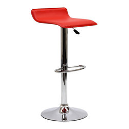 Modway - Modway EEI-579 Gloria Bar Stool in Red - The Gloria Bar Stool is classy but simple, perfect for entertaining guests at your home bar or the kitchen counter. The Gloria Bar Stool features a low key design that brings true style.