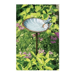 Achla - Scallop Shell Bird Bath - Includes Roman bronze stake. 90 days warranty. Made from brass. Verdi color. Made in India. No assembly required. 11 in. W x 11 in. D x 4 in. H (1 lbs.)The WI support system is designed to create many, varied configurations to suit customers specific needs.
