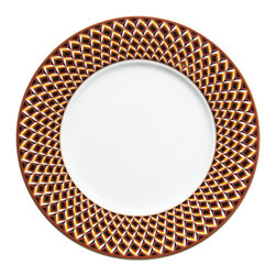 """Deshoulieres - San Marco Charger Plate 12.6"""" - Designed by Suzanne Tucker, the San Marco collection combines rich hues with geometric patterns. This plate will add a pop of color and timeless opulence to your table."""