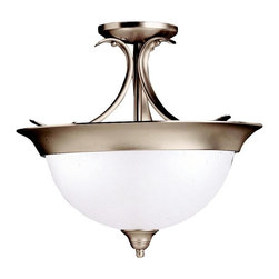Kichler - Kichler Dover Semi-Flush Mount Ceiling Fixture in Brushed Nickel - Shown in picture: Kichler Semi Flush 3Lt in Brushed Nickel