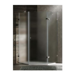 Vigo Industries - 42 in. Frameless Neo-Angle Chrome Shower Enclosure - Vigo's exquisite taste and superior quality is reflected in this totally frame less neo-angle shower enclosure. Clear PVC side gasket installs vertically onto door to ensure a water-tight seal between door and side panel when the door is in the closed position.