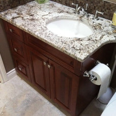 Bathroom Vanities And Sink Consoles by Florkowskys Woodworking & Cabinets LTD