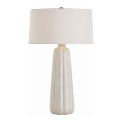 Arteriors - Vada Tall Lamp - This tapered tower will let you see your favorite setting in a whole new light. Silver and gold luster on a crackle finish create a pebbled surface that shimmers when illuminated.