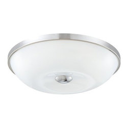 Eurofase Lighting - Eurofase Lighting 23022 Motion 1 Light Large Flush Mount Ceiling Fixture - Eurofase Lighting 23022 Motion 1 Light Large Flush Mount Ceiling FixtureThis modern flush mount ceiling fixture from the Motion Collection brings contemporary style to any space. The handmade glass shade is perfectly complimented by the chrome trim and accent. Eurofase Lighting 23022 Features: