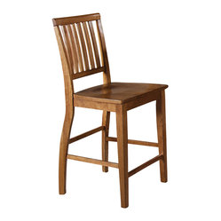 Steve Silver Candice Counter Height Chair in Oak (Set of 2)