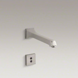"""KOHLER - KOHLER Memoirs(R) wall-mount commercial bathroom sink faucet with 8-3/16"""" spout - Insight technology features an adaptive infrared sensor that gathers and analyzes the surrounding area upon installation. After recording these details, Insight calibrates the sensor to filter false triggers and optimize the faucet's operation."""