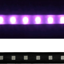 EnvironmentalLights - RGB 5050 LED Super Flat Rope, 60/m, Black Finish, Meter - Sold by the 20 meter reel, meter and sample kit.