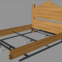None - Mantua Steel Rail Bedframe Support System - Use a steel bed frame support with your existing frame for the utmost in adjustability and support. Rustproof rails feature cross-supports for exceptional strength. It's the perfect choice for your full,queen,king,or Cal-king frame.