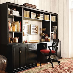 Logan Office Suite | Pottery Barn - This is the system I chose for my own home office/design studio.  It offers a built-in look, but can move with me when I change addresses.