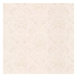 Estate Champagne Damask Wallpaper Bolt - A romantic wallpaper is a warm champagne cream hue. Elegant damasks transform walls into silk finery.