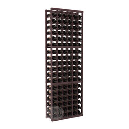6 Column Standard Cellar Kit in Redwood with Burgundy Stain + Satin Finish - Six columns for bottle storage is a perfect solution for 9 cases of wine. The modular format ensures you can expand storage without worrying about new racks lining up properly. We construct every rack to our industry-leading standards. You'll love our racks. Guaranteed.