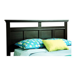 South Shore - South Shore Versa Full/Queen Headboard in Black Finish - South Shore - Headboards - 3177256 - The Versa Full/Queen Headboard has an understated urban chic. Spare profiles combined with definitive decorative detail create a highly adaptable contemporary look. This beautiful linear headboard with open spaces has an enduring appeal you will enjoy for many years.