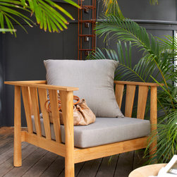 Outdoor Furniture Collection 2014 - Oversized Malua easy chair shown in Depot Ash fabric
