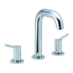 "Hansgrohe - Hansgrohe 31730001 Chrome Focus S Focus S Bathroom Faucet Widespread - Features:All brass faucet body and handle constructionFully covered under Hansgrohe s limited lifetime warrantyHansgrohe faucets are designed and engineered in GermanySuperior finishing process - finishes will resist corrosion and tarnishing through everyday useDouble lever handle operation – handles rest on 1/4 turn valvesLow lead compliant- meeting federal and state regulations for lead contentWaterSense Certified product- using at least 30% less water than standard 2.2 GPM faucets, while still meeting strict performance guide lines.Designed for use with standard U.S. plumbing connectionsAll hardware needed for mounting is included with faucetIncludes metal pop-up drain assemblySpecifications:Overall Height: 7-7/8"" (measured from counter top to the highest part of the faucet)Spout Height: 5-3/8"" (measured from counter top to the spout outlet)Spout Reach: 5-3/8"" (measured from the center of the faucet base to the center of spout outlet)Mounting Type: Single holeNumber of Holes Required for Installation: 3Faucet Centers (Distance Between Handle Installation Holes): 8""Flow Rate: 1.5 GPM (gallons-per-minute)Maximum Deck Thickness: 1-1/8""Metal lever handles included with faucetVariations: 31730: This model31711: Single hole version of this model less drain assembly31701: Single hole version of this model includes drain assembly31609: Vessel version of this modelAbout Hansgrohe: Founded in Germany's Black Forest back in 1901, Hansgrohe is committed to building a strong sense of tradition. Featuring unsurpassed quality, design and performance, Hansgrohe's products offer a lifetime of satisfaction. Through many breakthroughs in comfort and technol"