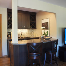 Contemporary Home Bar by Normandy Remodeling
