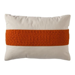 Threshold Oblong Waffle Toss Pillow, Rust