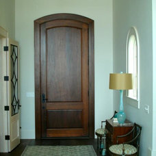eclectic front doors by Old South Construction