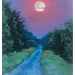 Full Moon (Original) by Sabrina Zhou - This is an original pastel painting.